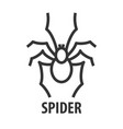 line icon of spider vector image