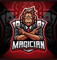 magic monkey esport mascot logo vector image vector image