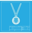 Medal simple sign White section of icon on vector image vector image