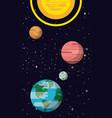 milky way planets vector image