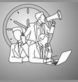 multitasking manager doodle sketch vector image