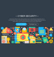 online communication security computer protection vector image
