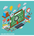 Online education learning teaching concept vector image