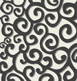 Pattern with dark grey stylish spiral curls vector image vector image