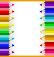 pencil white background vector image vector image