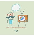 people like to watch TV vector image vector image