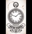 Pocket clock vector image
