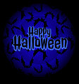 poster on theme of the halloween holiday with bats vector image