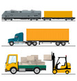 railway transportation and trucking vector image