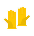 rubber gloves icon flat style vector image vector image