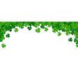 saint patricks day frame with green shamrock vector image vector image