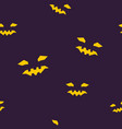 seamless pattern of halloween face vector image