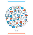 seo icons concept vector image vector image