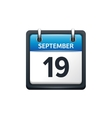 September 19 Calendar icon vector image vector image