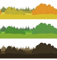 Set seamless landscapes forest vector image vector image