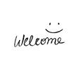 Simple Welcome sign vector image
