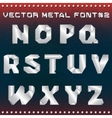steampunk metal alphabet for design vector image