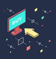 store online in isometric view for vector image