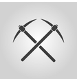 The pick icon Pickax symbol Flat vector image