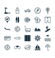 travel icons set collection of vehicle car vector image
