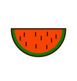 watermelon fruit slice or cross section with seeds vector image vector image