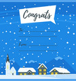 winter background with houses vector image