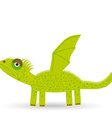 Cartoon of a dragon on a white background vector image