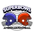 super bowl helmet badge vector image