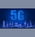 5g technology with circuit board is background 5g vector image vector image