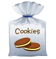 A pouch bag of cookies vector image