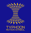abstract logo symbol in motion typhoon shape vector image vector image