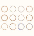 abstract round frames set vector image