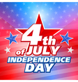 american 4th july background vector image vector image
