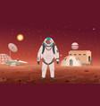 astronaut in spacesuit vector image vector image