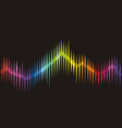 background with color sound wave from equalizer vector image vector image