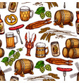 beer drink seamless pattern background vector image vector image