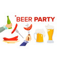 beer party design elements celebration vector image vector image
