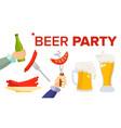 beer party design elements celebration vector image vector image