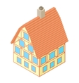 Big house icon cartoon style vector image vector image