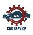 car repair service logo vector image vector image
