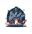 character of hades god death vector image vector image