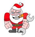 christmas card santa biker santa claus vector image
