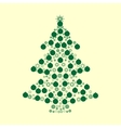 Christmas tree balls green holiday background vector image vector image