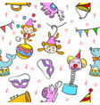 circus element colorful doodle style vector image vector image