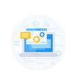 coding software development app integration vector image