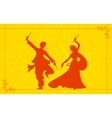 Couple playing Garba vector image vector image