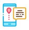 courier delivery mobile application icon vector image