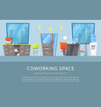 coworking space for business freelance and vector image