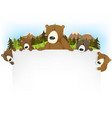 cute bear family background vector image vector image
