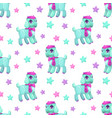 cute girlish seamless pattern with pretty little vector image